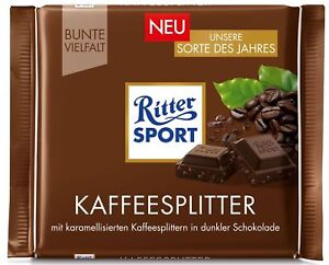 Details about 3 x 100g Ritter Sport Kaffeesplitter Coffee Chocolate NEW  from Germany