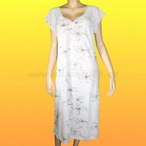 df35c604cd Das Bild wird geladen Damen-Nachthemd-mit-1-4-Arm-Micromodal-extralang-