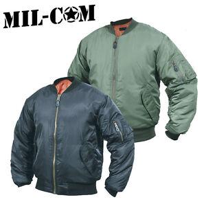 Milcom Mil-Com MA1 Flight Jacket Reversible Bomber Doorman ...