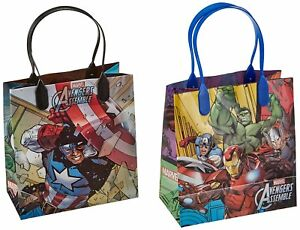 Spiderman 12 Premium Quality Party Favor Reusable Goodie Small Gift Bags Marvel