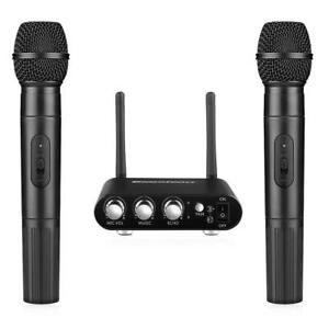 UHF-Dual-Channel-Wireless-Handheld-Microphone-Set-Easy-to-Use-Karaoke-NEW