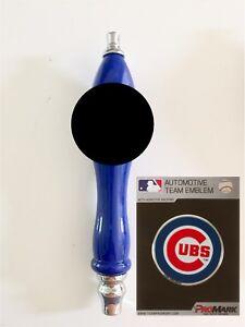 Chicago-Cubs-Baseball-Emblem-amp-Beer-Tap-Handle-for-Kegerator-Faucet-KIT