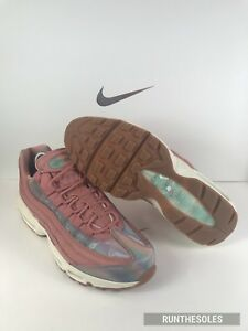 Details about Nike Women's Air Max 95 SE QS Pink Red Stardust Sail Gum Brown 918413 600 Sz 10