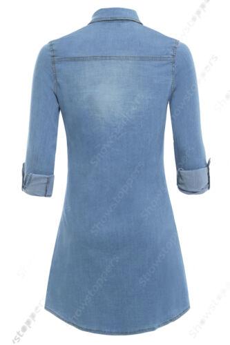 Camicia 10 Vestito Abito 14 Blu Stretch Donna Taglia Nuovo 8 12 Jeans Di gqxwaAZ