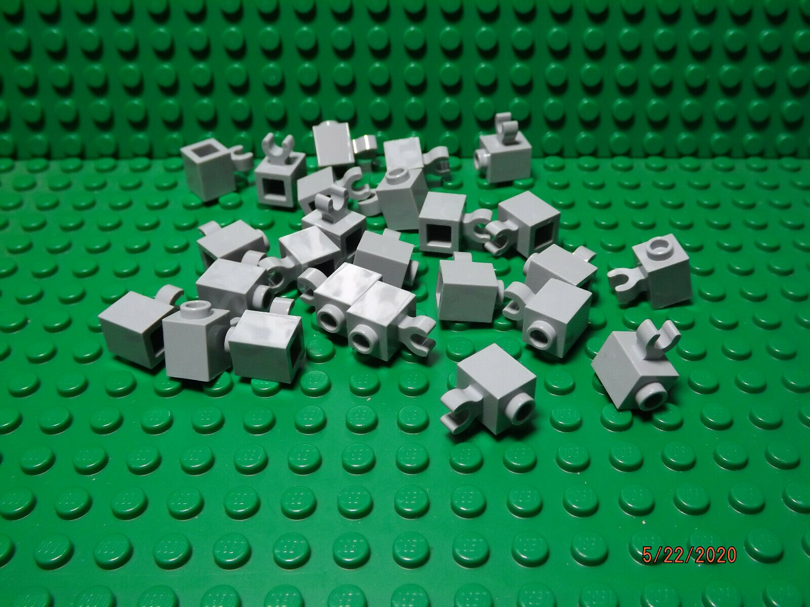 ** 25 CT LOT ** Lego NEW dark bluish gray 1 x 1 plate with vertical side clip