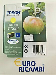 Cartuccia-EPSON-T1294-MELA-GIALLO-ORIGINALE-C13T12944010-Fattura-amp-Scontrino