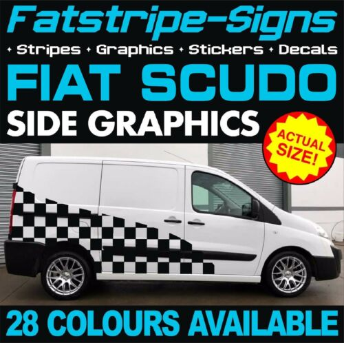 FIAT SCUDO GRAPHICS STICKERS STRIPES DECALS CREW CAB DAY VAN CAMPER RACE MX D