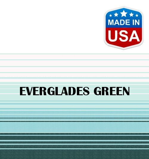 11' RV Awning Replacement Fabric for A&E, Dometic (10'3 ) Everglades Green