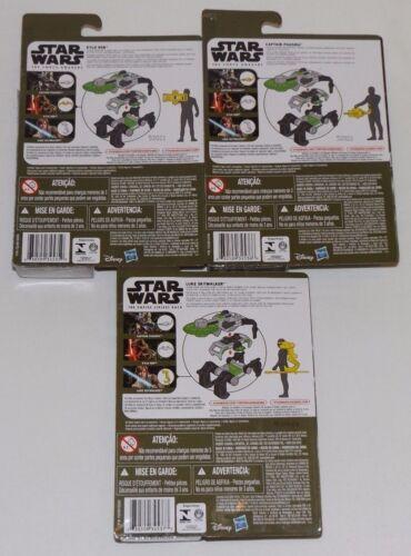 "Star Wars The Force Awakens KYLO REN CAPTAIN PHASMA LUKE SKYWALKER 3.75/"" wave 1"