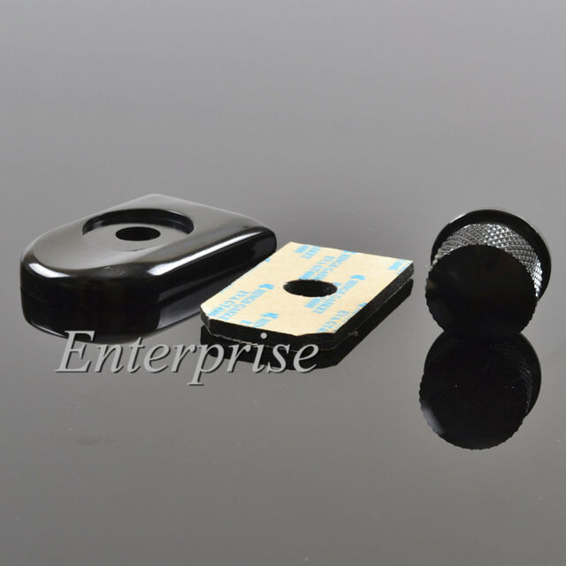 Black Seat Bolt Tab Screw Mount Knob Cover Kit For Harley FXD FLH FLS XL Touring