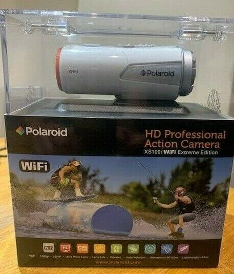 Polaroid XS100i WiFi HD 1080p 16MP Action Camera BNIB