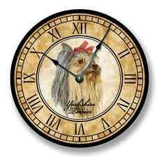 Yorkshire Terrier Wall CLOCK - Color Pencil Sketch - 7184_FT