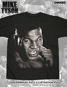 Mike Tyson Airbrush Face Iron Boxing World Champion Boxer Sports KO Shirt 74-4