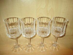 4-Vintage-Crystal-Clear-Wine-Glasses-Goblet-Stemware-Barware-7-034