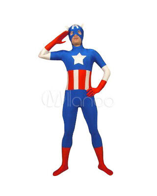 Halloween Costume Black Superhero open eyes Lycra Spandex Zentai full body suit