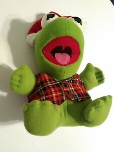 Jim-Henson-Muppet-039-s-Baby-Kermit-Plush-Santa-Christmas-1987-8-034