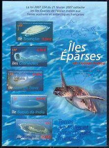 FSAT-TAAF-2007-Turtle-Eparses-Islands-Nature-Maps-Marine-Wildlife-5v-sht-n30186