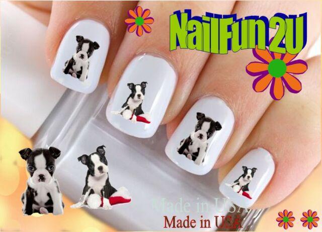 "Nail Art WaterSlide Decals RTG Set#114 ""Boston Terrier Puppy"" Transfer"