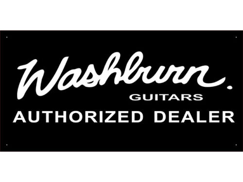 vn2099 Washburn Guitar Parts Service Repair Shop Display Banner Sign