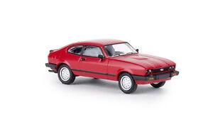 Brekina-19551-Ford-Capri-III-Red-Td-Car-Model-1-87-H0