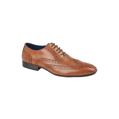 Gucinari ERNST Mens Patent Leather Formal Smart Lace Up Oxford Evening Brogues