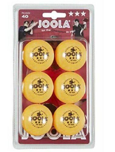 Orange Ping Pong Free Shipping Joola Rossi 3-Star Table Tennis Balls Pack of 6