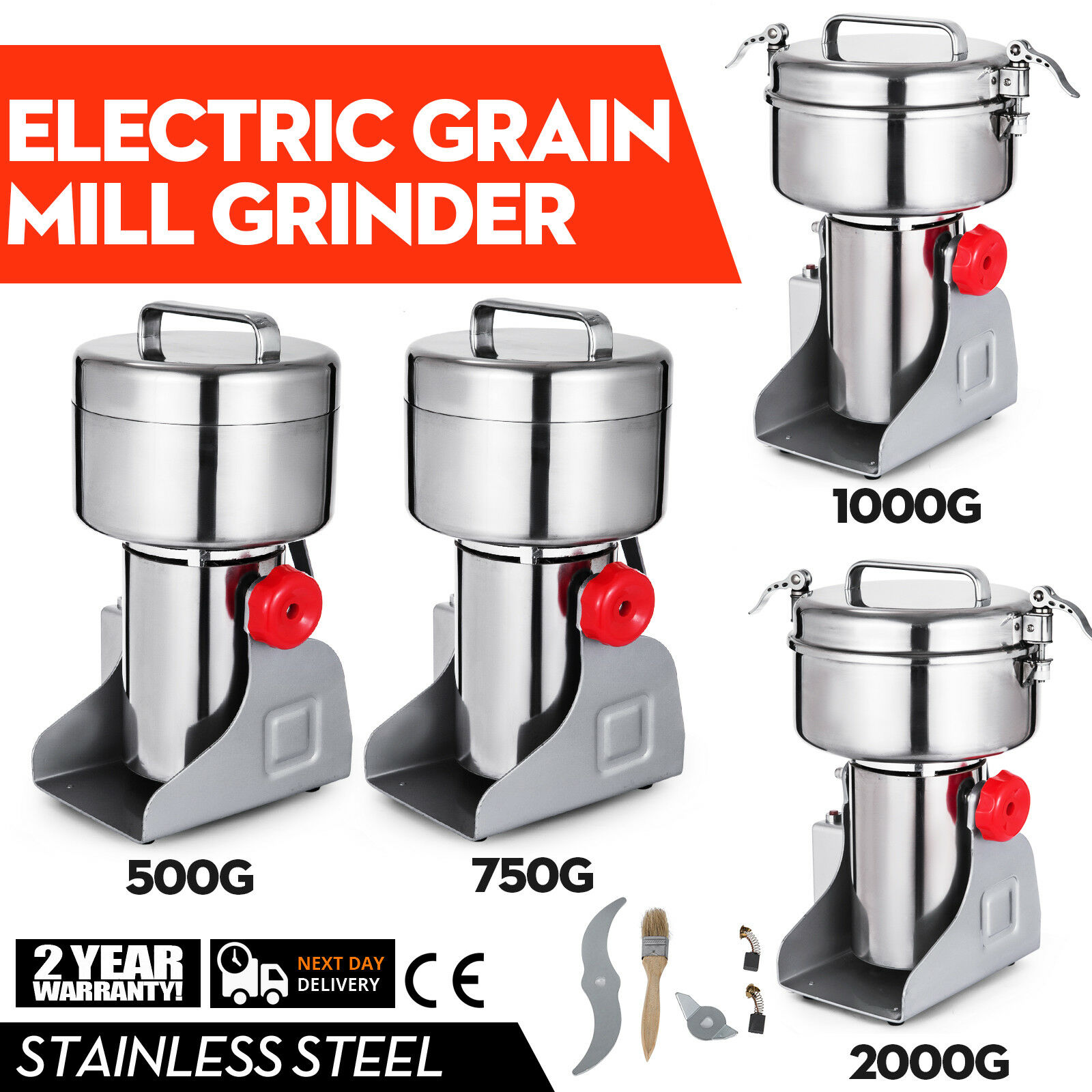 3002000g Electric Herb Grain Mill Grinder 36000R MIN stainless steel Coffee