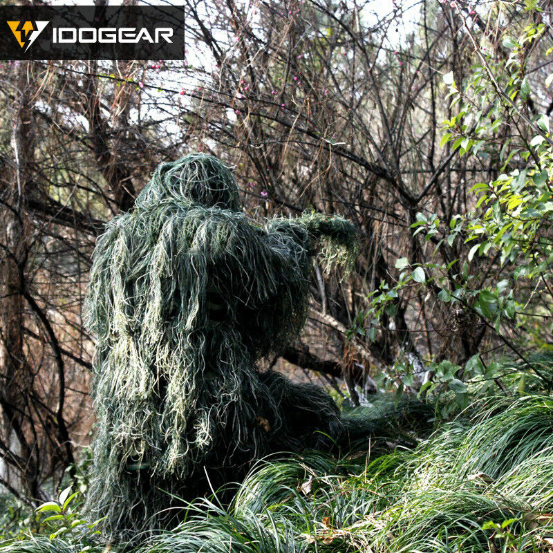 IDOGEAR Tactical Ghillie Suit Hunting  Airsoft Sniper Jungle Clothing Bionic Camo  factory direct