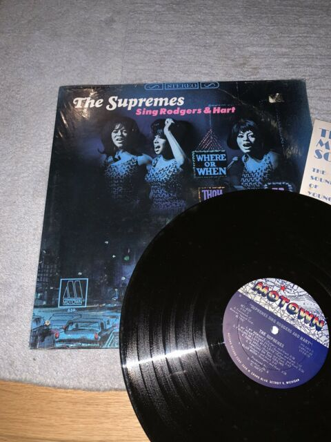 The Supremes Sing Rodgers & Hart Original 1967 LP New Rare