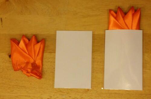 """Pre-Folded Satin Pocket Square 12/"""""""