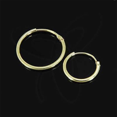 Single Herren Klapp Creole Echt Gold 333er Ohrring Ohrschmuck Ohrhänger Neu Seien Sie Im Design Neu