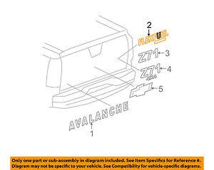 Chevrolet GM OEM SSR Tail Gate Tailgate Hatch-Emblem Badge Nameplate 15137470