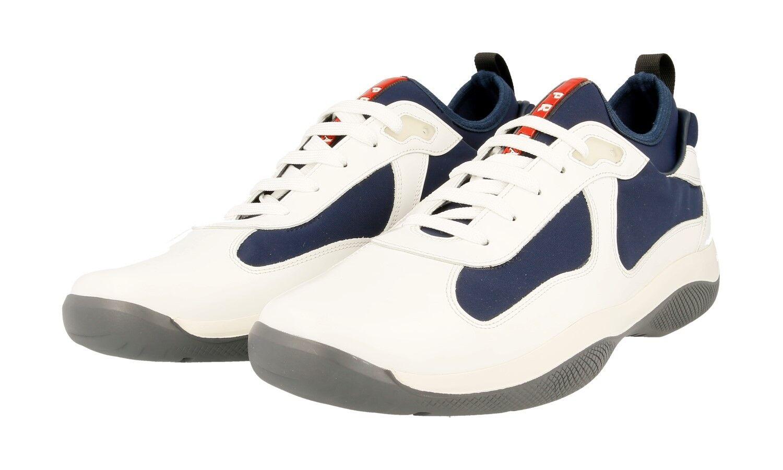shoes PRADA LUXUEUX 4E2993 whiteHE blue NOUVEAUX 9 43 43,5