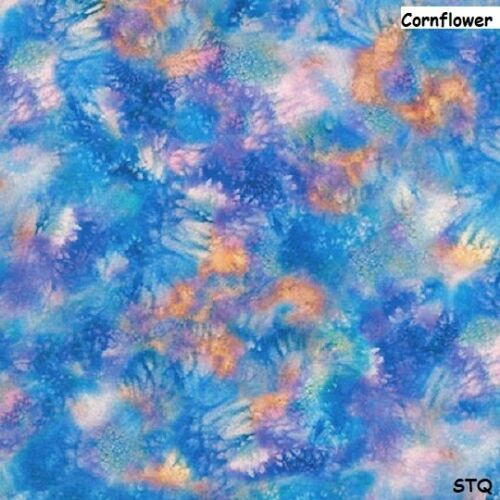 Wild Magic Mottled Pink Blue yellow cotton quilt fabric Kaufman Petunia Fairies