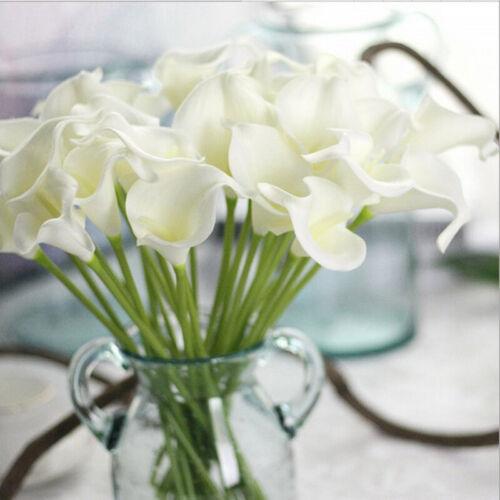 10X 38cm Artificial Calla Lily Flowers Single Long Stem Bouquet Home Table Decor