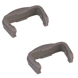 2 X Lave-Vaisselle Panier Avant Rail Capuchons Pour Beko DWD5411W, DWD5412W,