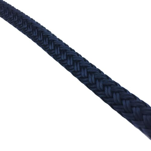 14mm Pre-Spliced Polyester Braided Dockline Mooring Rope Navy Blue 1 x 10 Metres