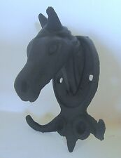 Cast Iron Horse Head Good for Bridle Hook and Helmet
