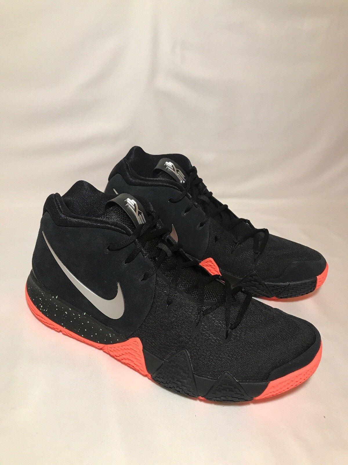 Nike Kyrie 4 Venus Flytrap Black Metallic Silver Men's Sz 11.5 (943806 010)