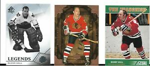 LOT-OF-3-CARDS-Franchise-Original-Six-OS6-Bobby-Hull-ARTIFACTS-GLENN-HALL-SP