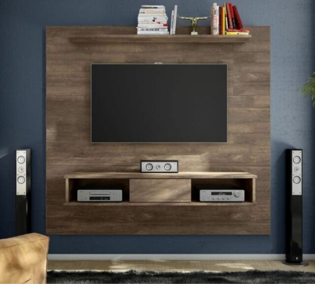 Floating Entertainment Center Mount Media 70 Tv Stand Wood