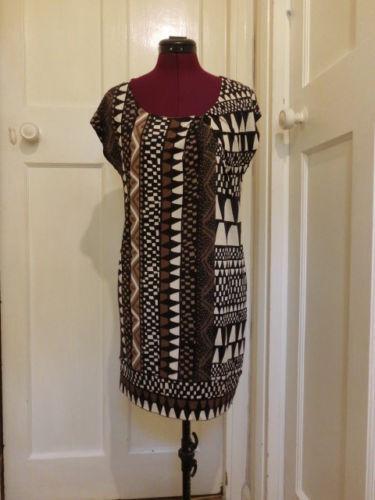 Silk Diane Tribal Dress Jersey Xs 8 Von 10 Mini Print Furstenberg Tunic Small rTxqrwva8