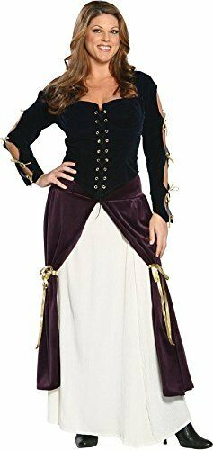 Plus Size Lady Musketeer Costume 3XL Halloween dress up