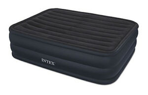 Intex Raised Downy Airbed Built In Electric Pump Queen Bed Height 22 66717e