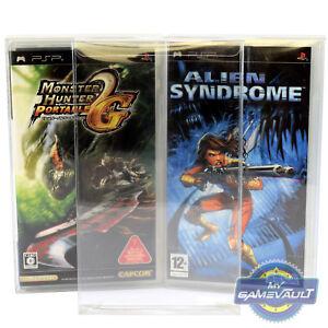 25 X Psp Game Box Protections Pour Playstation Solide En Plastique 0.4 Mm Display Case-afficher Le Titre D'origine