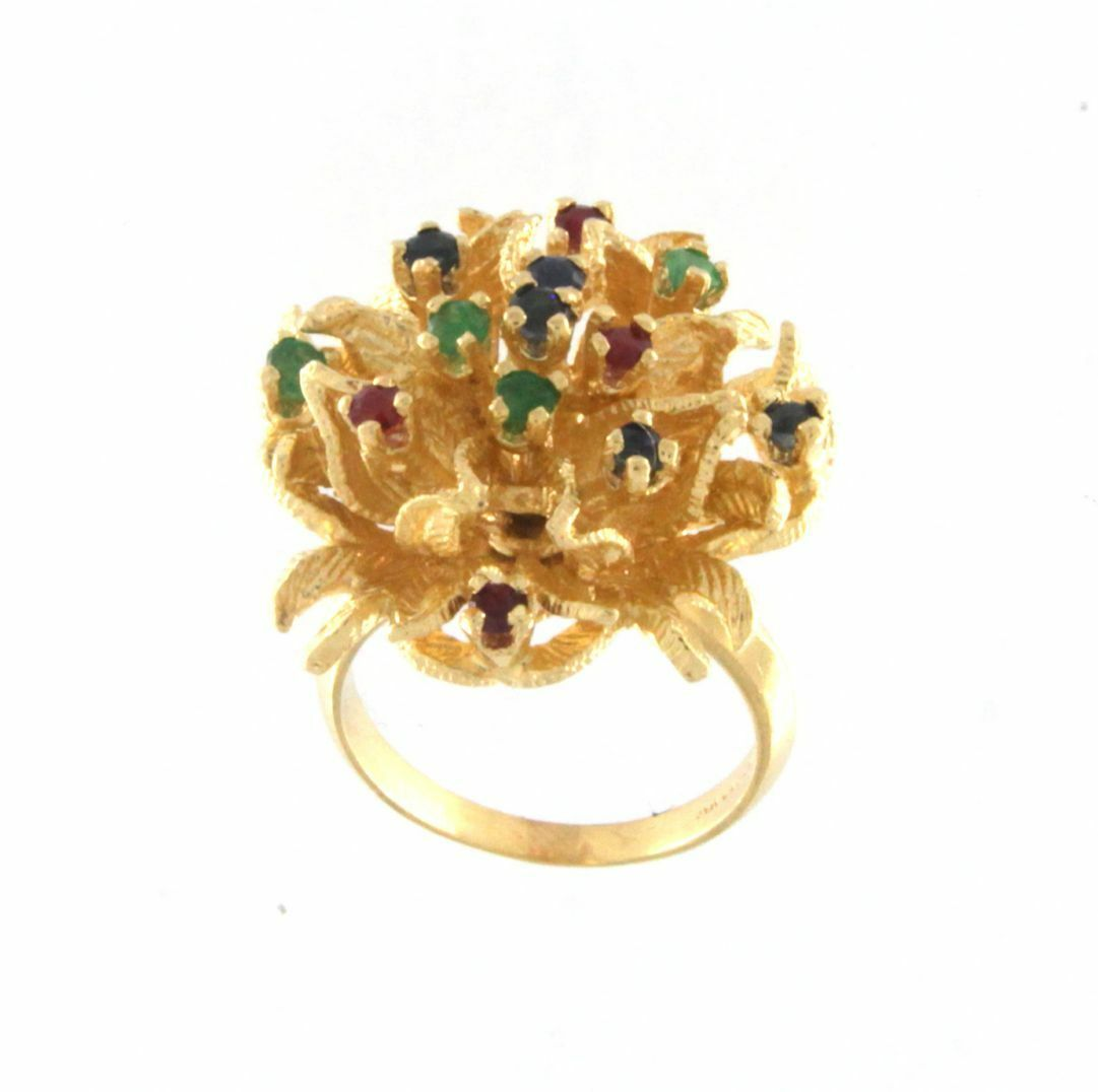 Fascinating Fine gold Floral Ring 14k Yellow gold Size 7.5