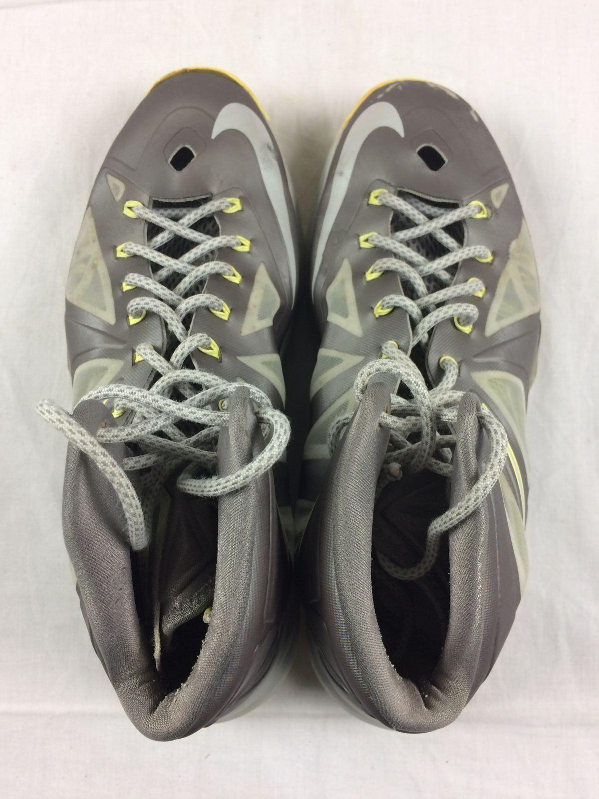 Nike lebron x 10, grau schuhe - gelben basketball - schuhe grau - männer - größe 12 118306