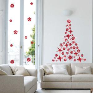 Adesivi Murali Natale.Dettagli Su Adesivi Murali Vetrine Wall Stickers Decorazioni Albero Di Natale Neve A0305