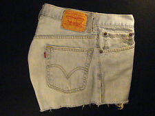 LEVIS 559 CUTOFF JEAN SHORTS Cut Off W 31 MEASURED Red Tab Relax HIGH WAISTED