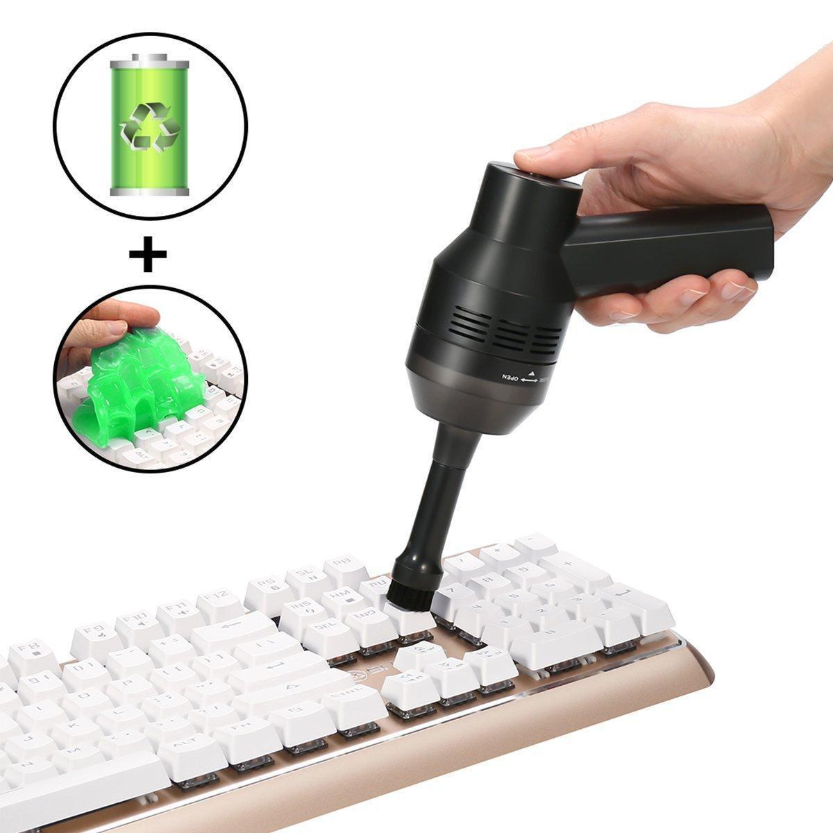 Details about Mini vacuum cleaner Desk top dust cleaning KeyboardCrumbsAsh USBBattery